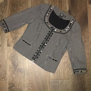 Worth New York black & silver lined jacket size 8
